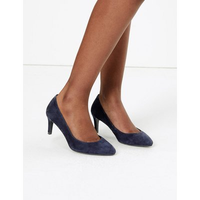M&S Collection Wide Fit Suede Stiletto Heel Court Shoes