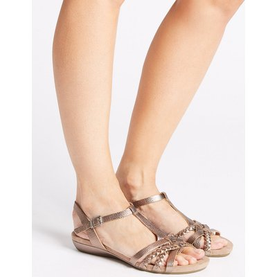 M&S Collection Wide Fit Leather Gladiator Sandals