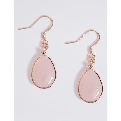 Quartz Drop Earrings pink, Rose Mix