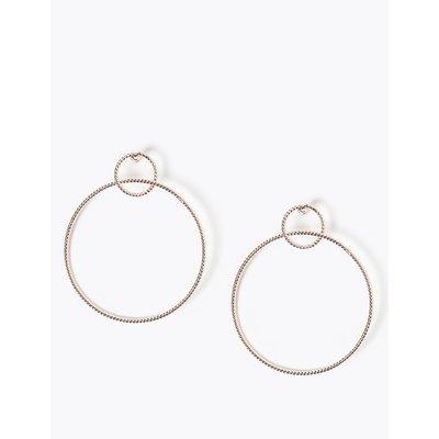 Refined Circle Drop Earrings pink
