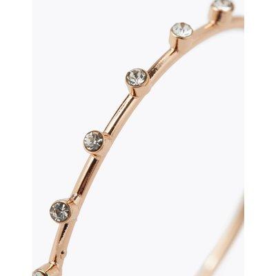 Crystal Front Hoop Earrings pink