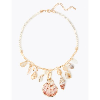Shell Shape Rope Necklace beige