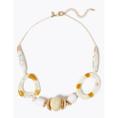 Raffia Ball Multi Shell Necklace beige