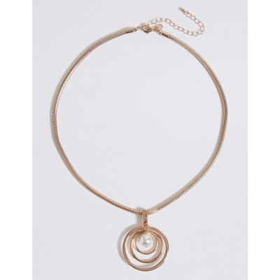 Pearl Pendant Necklace pink
