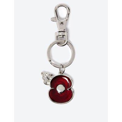 The Poppy Collection® Enamel Poppy Keyring silver
