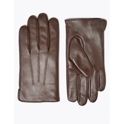 M&S Collection Leather Gloves with Thermowarmth