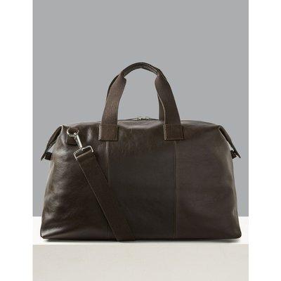 Premium Leather Weekend Bag brown