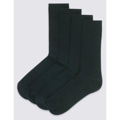 4 Pack Lambswool Rich Socks black