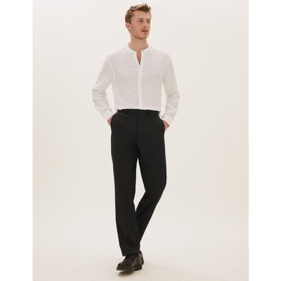 Black Regular Fit Trousers black