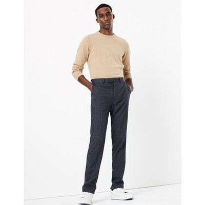 Textured Skinny Fit Trousers navy