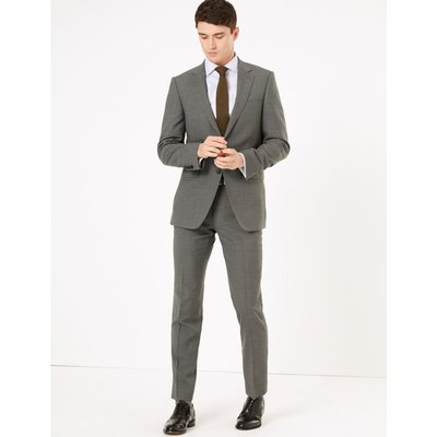 Tailored Fit Wool Jacket grey