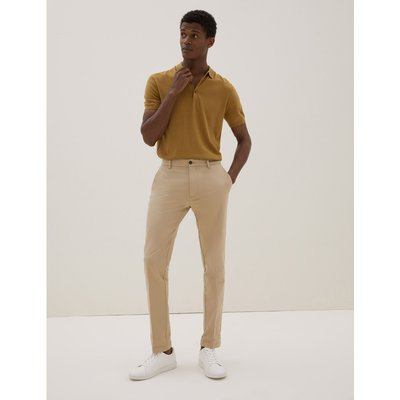 Slim Fit Italian Stretch Chinos beige