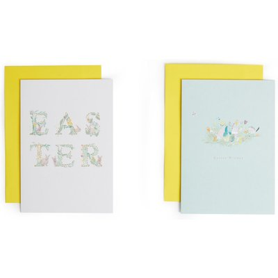Floral Letters Easter Cards Pack of 6