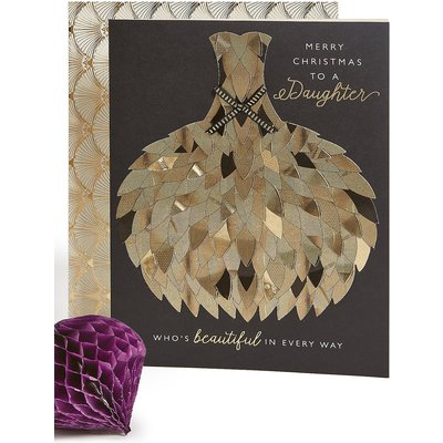 Daughter Ball Gown Christmas Charity Card