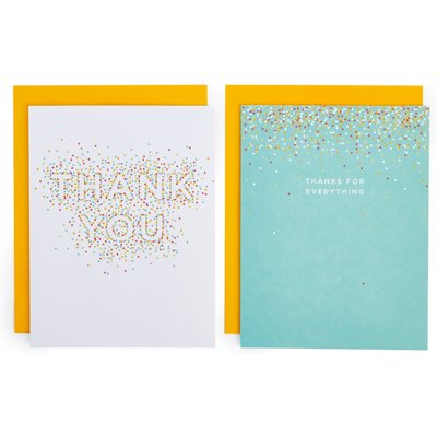 Pack of 8 Multi-coloured Spots Thank You Cards