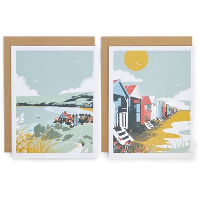 Pack of 8 Beach Scene Blank Cards
