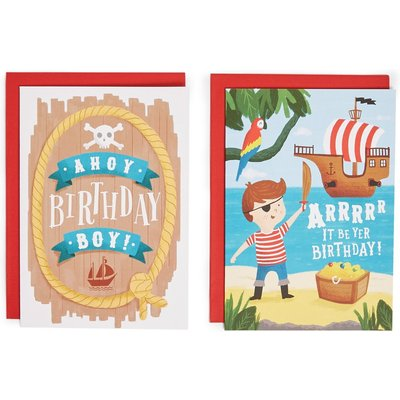 Pack of 8 Pirate Birthday Cards