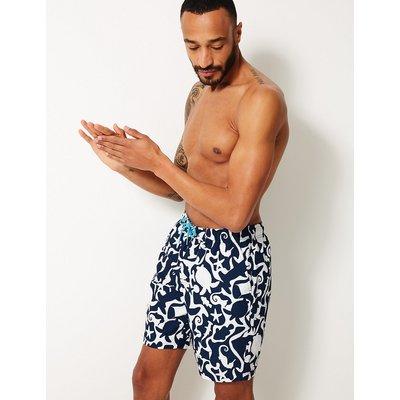 M&S Collection Quick Dry Sea Creature Print Swim Shorts