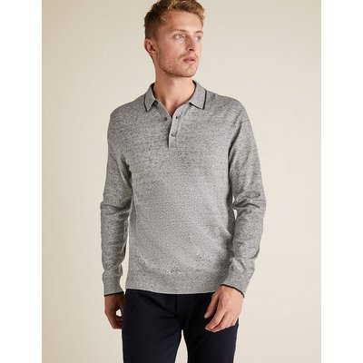 M&S Collection Cotton Knitted Polo Shirt