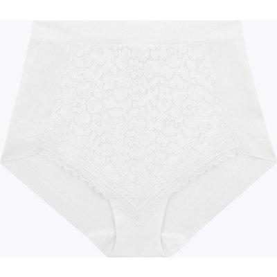 M&S Collection Medium Control Cotton & Lace Full Briefs