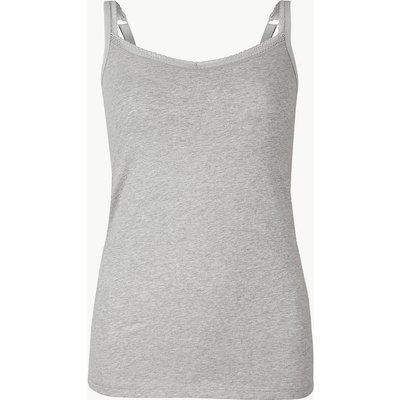 M&S Collection Lace Trim Vest with Secret Support