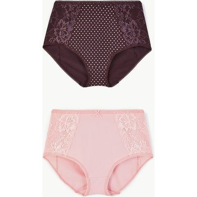 M&S Collection 2 Pack Lace Full Control Shaping Knickers