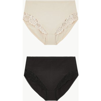 M&S Collection 2 Pack Firm Control High Leg Knickers