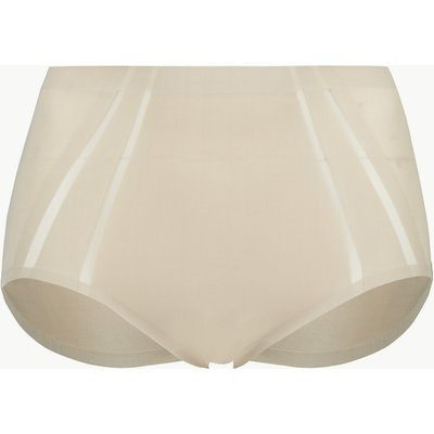 M&S Collection Light Control Sheer Shaping High Leg Knickers with Mesh