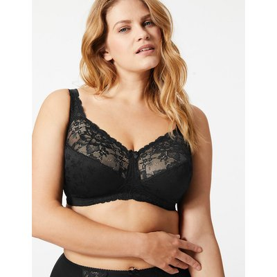 M&S Collection Total Support Floral Jacquard Lace Full Cup Bra B-G