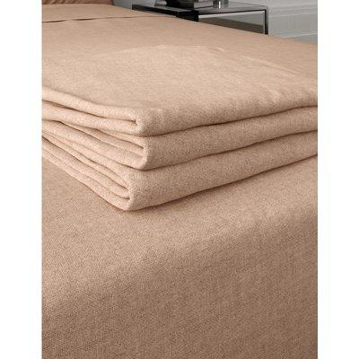 Brushed Cotton Flat Sheet cream