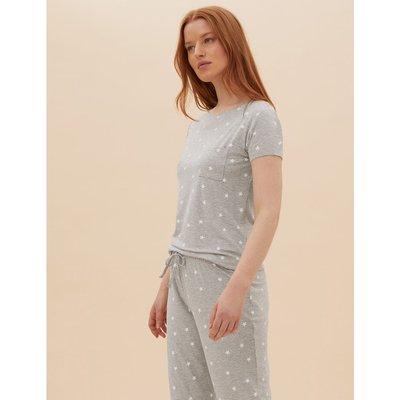 Star Print Pyjama Set grey