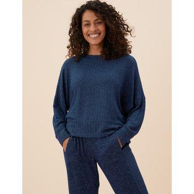 Cosy Lounge Rib Sweatshirt navy