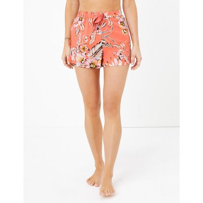 M&S Collection Cotton Tropical Floral Print Shorts
