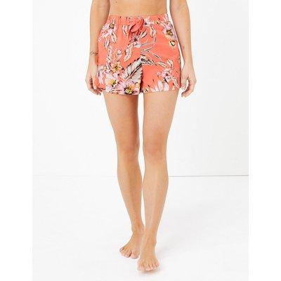 M&S Collection Cotton Tropical Floral Print Shorts