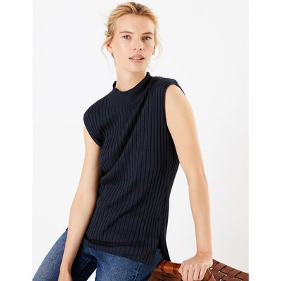 M&S Collection Ribbed Sleeveless Tunic