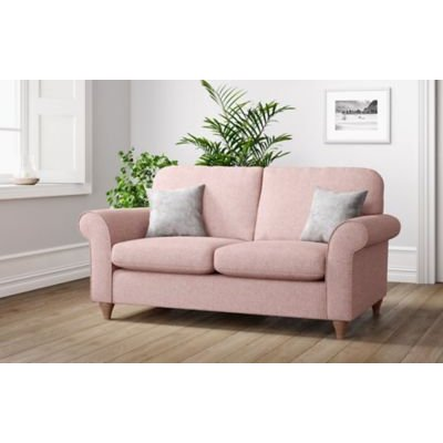 M&S Olivia Small Sofa - Charcoal, Charcoal,Grey,Steel,Dusky Pink,Natural,Emerald,Peacock,Dark Ochre,Navy,Ochre,Duck Egg