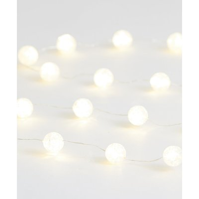 20 Mini Frosted Ball Wire Lights, White Mix