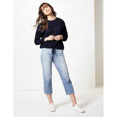 M&S Collection Textured Relaxed Fit Long Sleeve Top