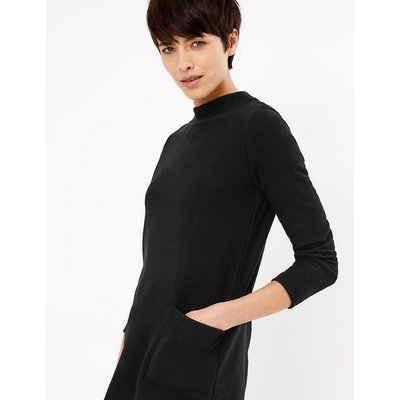 M&S Collection Cotton Blend Longline Long Sleeve Top