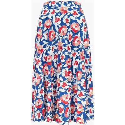M&S Collection Jersey Floral Pleated Midi Skirt