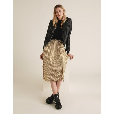 M&S Collection Geometric Pleated Midi Skirt