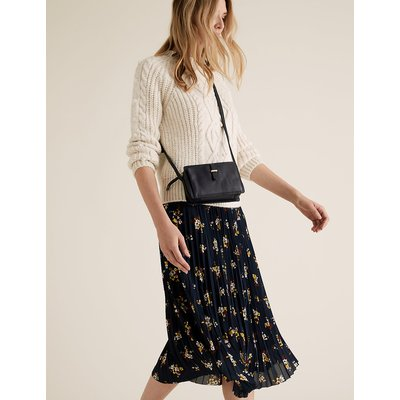 M&S Collection Floral Pleated Midi Skirt