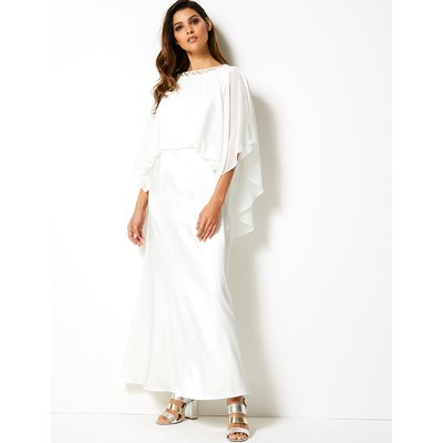 M&S Collection 3/4 Sleeve Maxi Waisted Dress