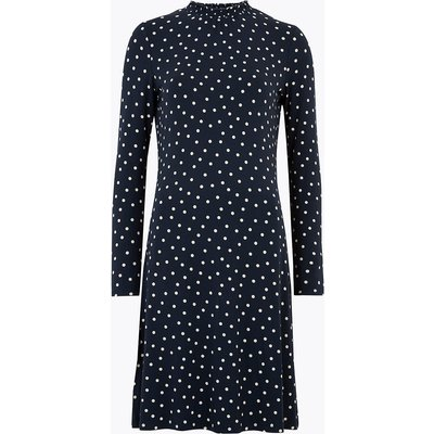 M&S Collection Jersey Polka Dot Knee Length Swing Dress