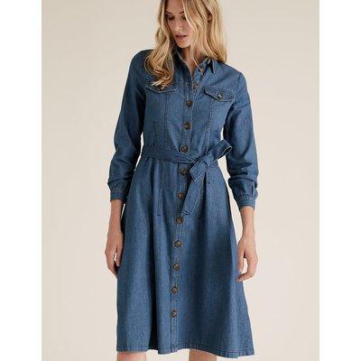 M&S Collection Split Side Column Midi Skirt