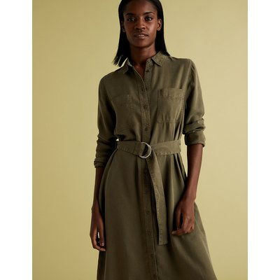 M&S Collection Belted Midi Shirt Dress