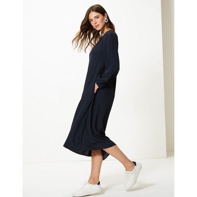 M&S Collection Gathered Front Relaxed Midi Dress