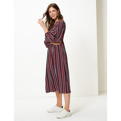 M&S Collection Striped Relaxed Midi Dress