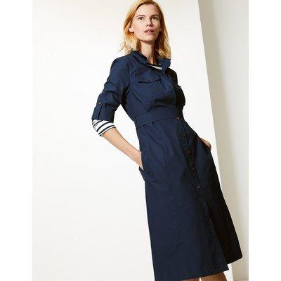 M&S Collection Pure Cotton Shirt Midi Dress