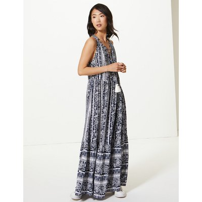 M&S Collection Printed Relaxed Maxi Dress